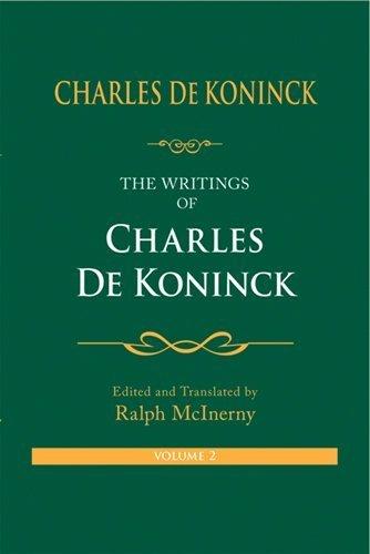 the-writings-of-charles-de-koninck-volume-two-by-charles-de-koninck-2009-06-15