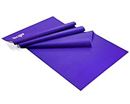 Yes4All PURPLE PVC Yoga Mat 1/8 inch (3mm) thick, 68 inch long x 24 inch wide - ²Y8GPZ