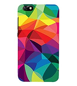 Colourful Pattern 3D Hard Polycarbonate Designer Back Case Cover for Huawei Honor 4X :: Huawei Glory Play 4X