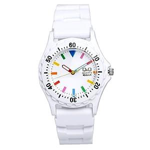 [シチズン キューアンドキュー]CITIZEN Q&Q 腕時計 10気圧防水 カラーウォッチ ラバー ホワイトマルチ ダイバーズデザイン