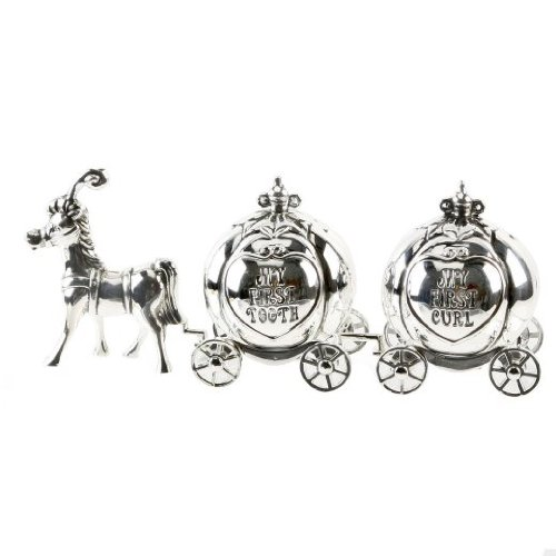 Silver Plated Cinderella Carriage My First Curl,
