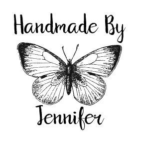 personalizzato-a-mano-timbro-vintage-farfalla