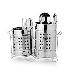 sssilverware Cutlery Holder with Stand Set (Set of 2 pc)