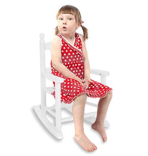 Modern Home Kids Wooden Porch Rocking Chair - White
