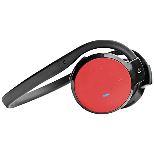 Pyle Home Phbt5R Stereo Bluetooth Streaming Wireless Headphones With Call Answering And Built-In Microphone, Red