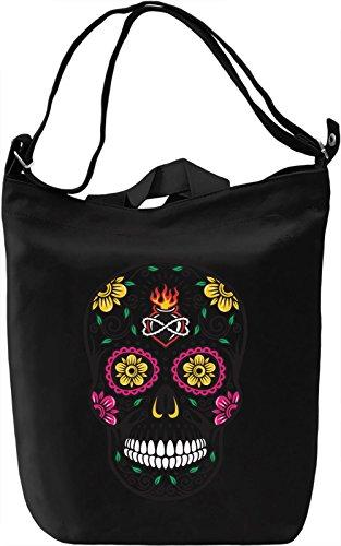 Flower Skull Transparent 2 Borsa Giornaliera Canvas Canvas Day Bag| 100% Premium Cotton Canvas| DTG Printing|