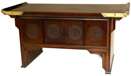 Furniture office furniture writing desk dark finish for Asian style desk