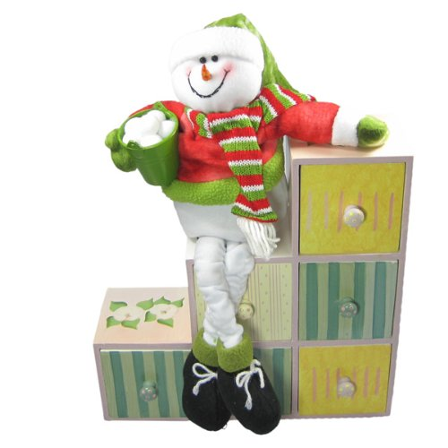 Snowman Beanbag Stuffed Animal Shelf Sitter Christmas Decoration Home Décor Handmade Fleece Plush