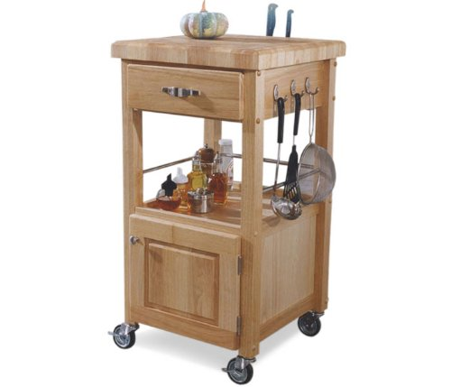 The Best Single Door Kitchen Cart With Butcher Block Top