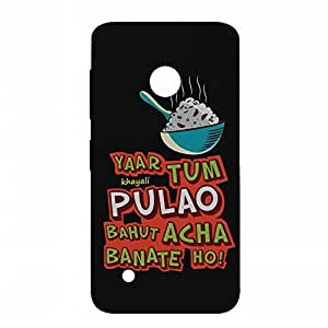RANGSTER Khayali Pulao-Fun Matte Finish Mobile Case For Nokia Lumia 530 Dual SIM-Black