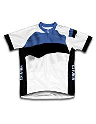 Estonia Flag Short Sleeve Cycling Jersey for Women