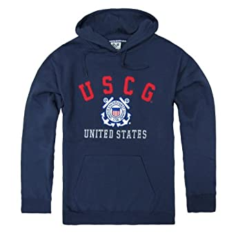 RD Genuine US Coast Guard Military Fleece Pullover Hoodies - Navy Blue - Small -
