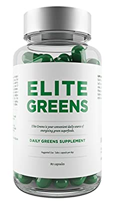 Chlorella, Spirulina and Wheatgrass All In One Daily Super Greens Tablets - Promotes Energy, Immune Function, General Health & Well-Being - Also Includes Broccoli, Spinach & Ginseng - Provides Vast Number of Vitamins, Minerals, Amino Acids & Plant Protein