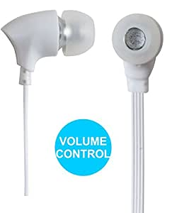Jkobi Joy Sound Volume Control Earphones Handsfree Compatible For Lenovo Vibe X3 (Youth) -White