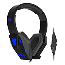 buy Powerlead Repo R002 Gaming Headphones Headset Earphone With Microphone Led In-Line Wheel Control For Volume And Mic Perfect For Pc Games And Listening Music Headset With Noise Cancelling & Volume Control(Blue)