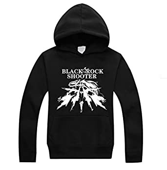BRS Black Rock Shooter Noctilucent Logo Cosplay Costume Anime Long Sleeves Hat Hoodie