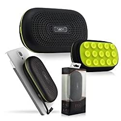 Viral Goods Premium High Quality Tough Wireless Bluetooth Speaker with Inbuild 3000 mAh Power Bank (Combo Pack)