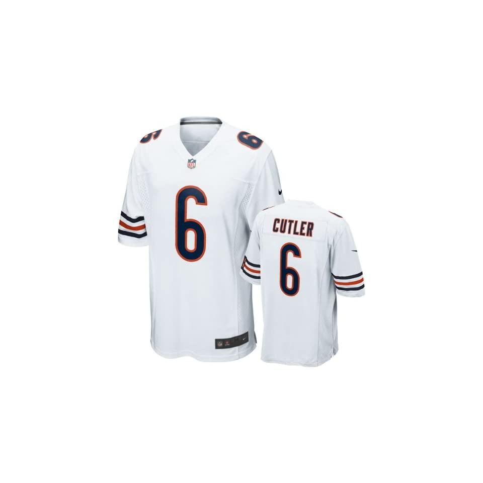 Jay Cutler Jersey Away White Game Replica  6 Nike Chicago on PopScreen 59325920f