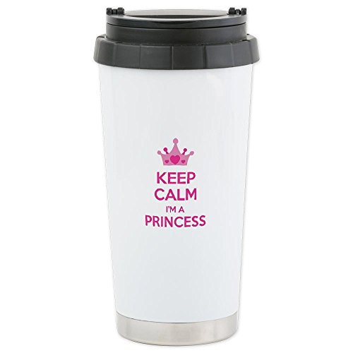 Cafepress Keep Calm I'M A Princess Ceramic Travel Mug - Standard Multi-Color