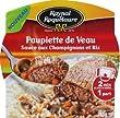 Raynal & Roquelaure  de Veau, Sauce aux Champignons et Riz la Barquette Micro-Ondable 285g