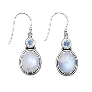 Amazon.com: 925 Sterling Silver Faceted Blue Topaz ...
