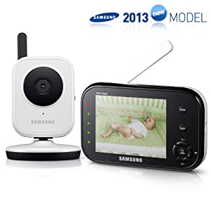 Samsung SEW-3036WN Wireless Video Baby Monitor with Infrared Night Vision and Zoom, 3.5 inch
