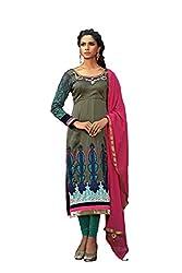 Kamakshi Womens Cotton Self Print Straight Salwar Suit (Aditi_Xl)