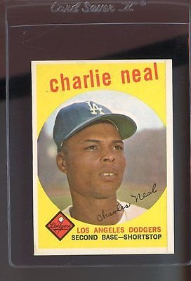 1959 TOPPS #427 CHARLIE NEAL WB EX *48724