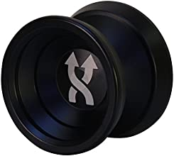Yoyo King Black Double Agent Metal Yoyo with Narrow Responsive and Wide Nonresponsive C Bearing and
