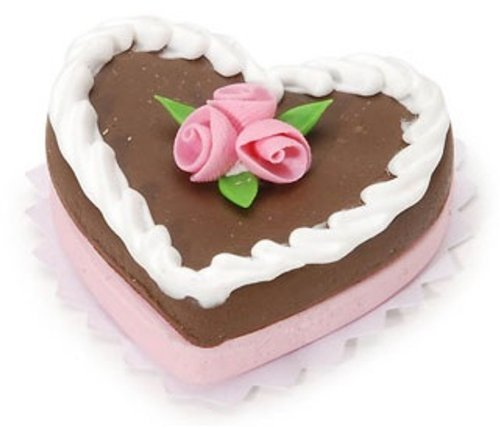 Miniature - Heart Chocolate Cake - 1.25 inches - 1