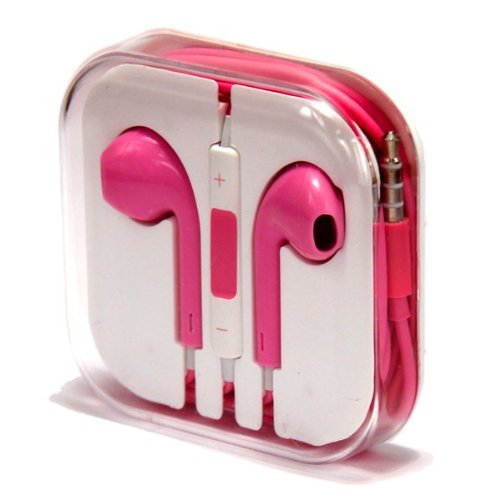 Zeimax Earbuds EarPods With Mic and Remote Earphone Headphone Compatible with Apple iPhone 3 4 5 5S 5C, iPad, iPod (Pink)