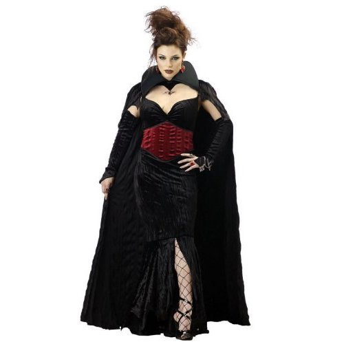 Women Medium (8-10) - Countess Of Mayhem Costume Dress And Cape (Shoes, Fishnets, Earrings, Rings, Bracelet Not Included)