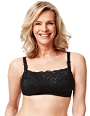 Post Surgery Jasmine Lace Padded Non-Wired A-DD Bra with Modal
