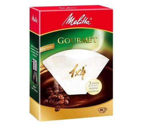 Filtro per caffÚ 1x4 Gourmet - 80 filtri