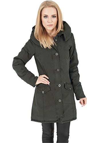 MAG Urban Classics TB1088 Ladies Garment Washed Long Parka Giacca donna XS olive