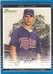 2002 Bowman # 379 Joe Mauer RC - Minnesota Twins - Rookie Baseball Card