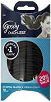 Goody Ouchless No Metal Black Elastics Storage Pack 4mm 70 Count
