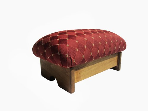 Padded Foot Stool Rococo Red 7
