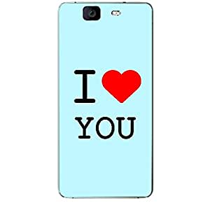 Skin4gadgets I love You Colour - Light Blue Phone Skin for MICROMAX CANVAS KNIGHT (A350)
