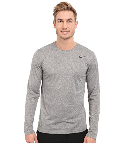 Nike Men's Legend 2.0 Long Sleeve Tee Carbon Heather/Black/Black T-Shirt 2XL
