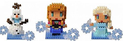 3 Box Disney Set - Elsa Anna Olaf Nanoblocks Mini Figure Lego Toy