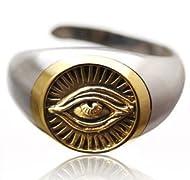 シルバーアクセサリー シルバーリング メンズ 指輪 フリーメイソン 目 r0652 フリーサイズ(目安:16号から19号前後)