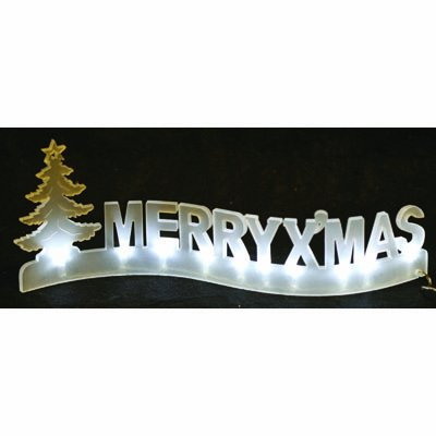 PW LED Light Up Merry Christmas Decoration / Sign