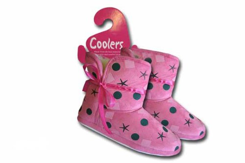 Girls & Kids COOLERS Fluffy Bootee Slipper 326 Fushia 10-11