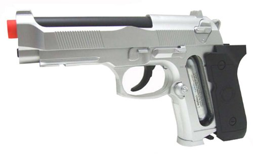 Tactical M92 CO2 Version, Silver airsoft gun