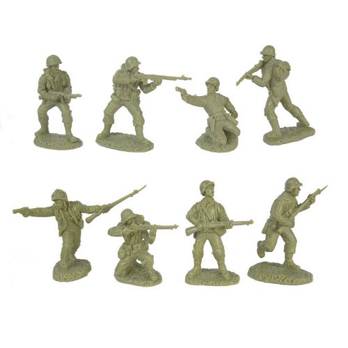 Buy Low Price TSSD WWII US Army Infantry GI's Plastic Green Army Men: 16 piece set of 54mm Figures – 1:32 scale (B0049K7F14)