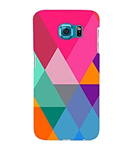 Graphic Color Pattern 3D Hard Polycarbonate Designer Back Case Cover for Samsung Galaxy S6 Edge+ G928 :: Samsung Galaxy S6 Edge Plus G928F