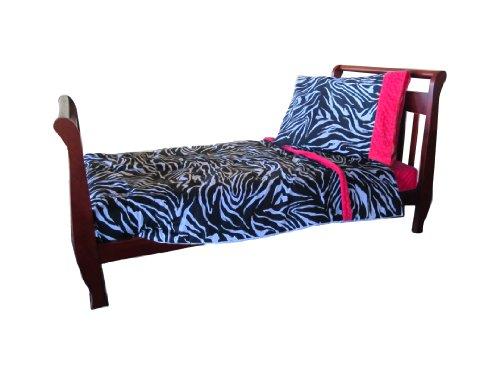Zebra Hot Pink Bedding front-184542