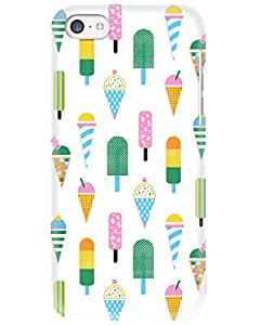 Wildpunch WP-IP5C(12) Popsicle Ice-Cream Designer Phone Back Cover Case For IPhone 5C (White)