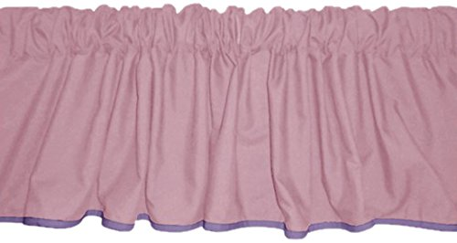 Baby Doll Reversible Window Valance, Pink/Lavander - 1